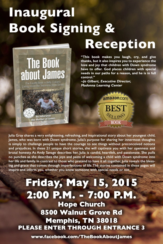 The Book About James Poster for 5.15.15